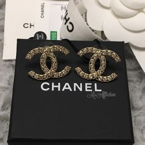 Sold on eBay! CHANEL Authentic CC Strass Earrings